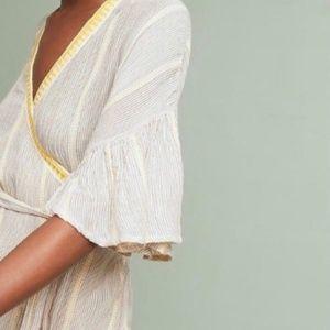 COPY - Maeve wrap blouse flutter sleeves